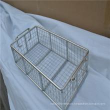 Cesta de armazenamento de cozinha soldada de malha de arame de aço inoxidável útil