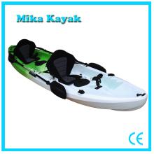 Barco de pesca plástico del barco del kajak del mar de la persona 3 para la venta