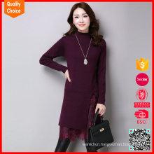 Women's turtleneck customized dress designs