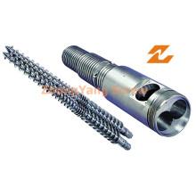 Konischer Doppelschraubenzylinder für PVC-PE-Kabelextrusionsschraubenzylinder
