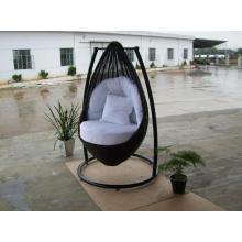Hamaca columpio diseño silla de mimbre al aire libre