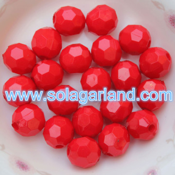 4-20MM Acrílico Opaque Faceted Beads