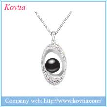 Mädchen Pullover Design Halskette schwarz Perle Samen Perle Schmuck weiß Gold Kragen