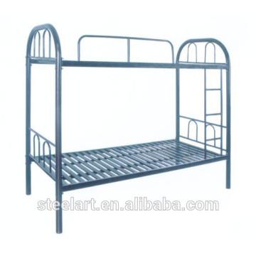lit superposé en métal pour adulte avec garde et escalier
