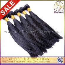 Tangle free black yaki straight premium plus human hair extension
