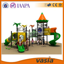 Outdoor Kids Plastic Playground Slide Equipment With Toddler Jungle Gym