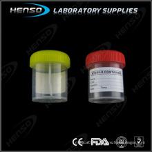 Tasse de selles stériles de 60 ml avec étiquette