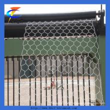 Rede de arame hexagonal revestida de PVC