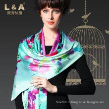Цифровая печать Высококачественный двухслойный шарф