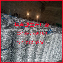 barbed wire factory sale galvanized barb wire 14# 12# barbed wire coil