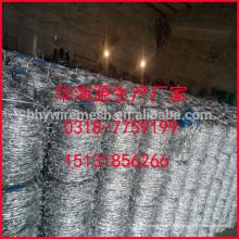 Venda de fábrica de arame farpado Galvanizado arame farpado 14 # 12 # arame farpado bobina