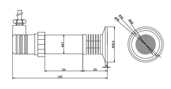 high temperature sanitary flange pressure transmitter
