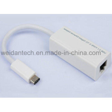 USB Leaded Type-C to Gigabit Ethernet Adapter with Pd Function