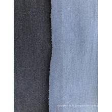 Tissu denim texturé double face