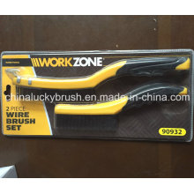 2 Piece Wire Hand Tools Set Brush