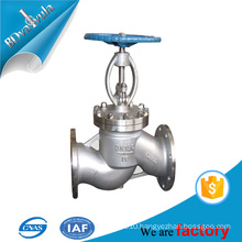 DN50 stainless steel flange connection handwheel globe valve