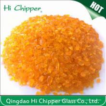 Chips de vidro de laranja esmagado