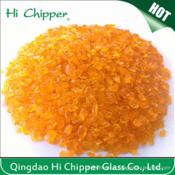 Crushed Orange Glass Chips