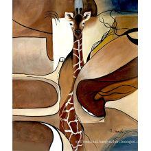 Modern Decorative Giraffe Animal Hand made painting