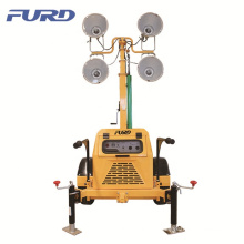 5KW Generator Mobile High Mast Lighting Tower for Emergency Lighting