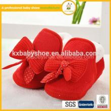 Venta al por mayor China invierno bebé lana zapatos para bebés recién nacidos