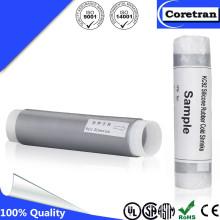 Conjonction de câble coaxial noir sans tube de mastic