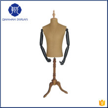 High end new design half body fabric dress mannequin man for suit