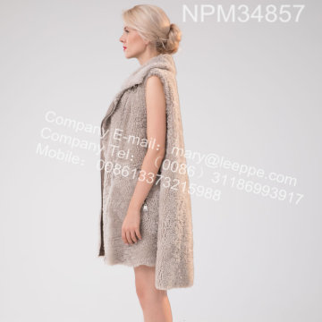 Icelandic Lamb Fur Gilet For Lady