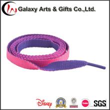 Cordones impresos planos del logotipo de encargo del cordón del poliester