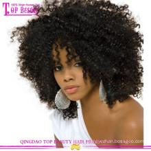 Venda quente por atacado preço barato peruca cheia do laço kinky curly peruca