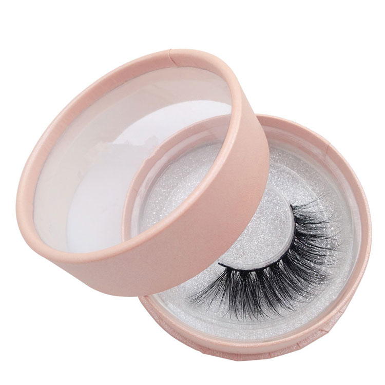 Custom Round Empty False Eyelash Box Packaging