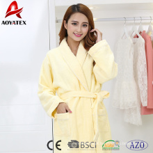 wholesale high quality 100% cotton women hotel bathrobe