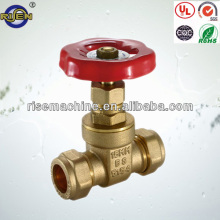 15mm compression wheelhandle brass gate valve