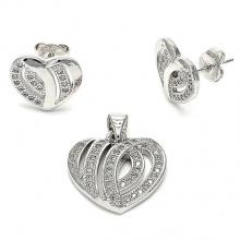 Micro Pave Set 925 Juego de joyas de plata esterlina