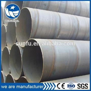 Chaine d'eau en métal spirale SSAW à prix unitaire en usine pour fluide