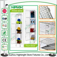 Armarios de almacenamiento de malla de alambre coloreado para el mercado del Reino Unido