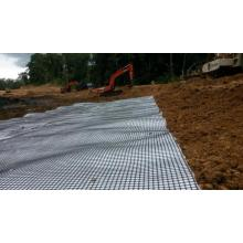 Nonwoven Geotextile के साथ समग्र पीपी Biaxial Geogrid