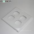 Matériau de polycarbonate de haute qualité Plaque de recouvrement de commutateur de lumière GFCI