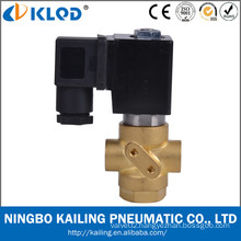 Direct acting brass material 3 way solenoid valve 12v for air water VX32