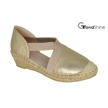 Mulheres PU Espadrille Wedge Sapatos