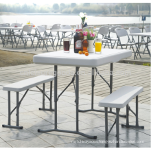 Cheap banquet durable HDPE plastic folding table and chair sets folding table and chair sets