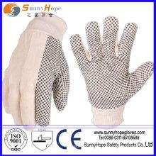 3/4 gants en pointillés en PVC trempés