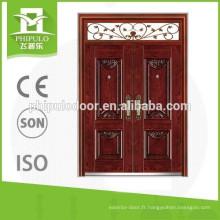 Différents modèles de portes en acier à une porte et demi insonorisées