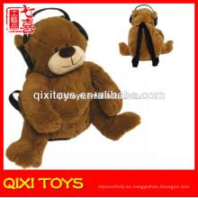 mochila de felpa de oso de felpa de escuela barata