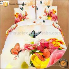 Ropa de cama nupcial de la impresión 3d Ropa de cama al por mayor del lecho 100% cotton del algodón