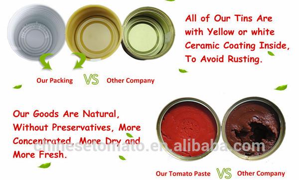 tomato paste tin packing