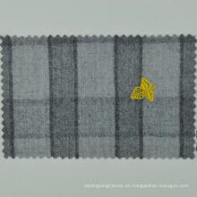 LORO CADINI italiano hecho a medida tela de cuadros gris 100% lana para trajes de hombre de gama alta