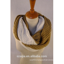 New design 2 tone knitted scarf/shawl