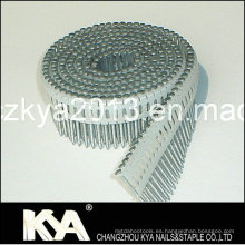 Clavos de bobina de hoja de plástico de 15 grados