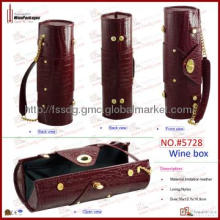 trending crocodile pattern PU leather single bottle wine tote